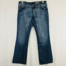 C7P Chip and Pepper Bootcut Jeans Juniors Size 13 Light Blue Faded Wash