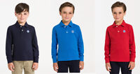 North Sails Kids Boys Cotton Jersey Pique Long Sleeves Polo Shirt 4 6 8 10 12