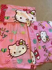 Hello kitty single duvet cover set and blanket