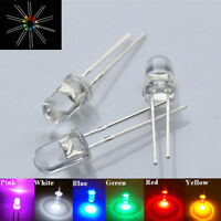 EG_ 3mm/5mm LED Bulbs Ultra Bright Water Clear LEDs 3V Light Emitting Diode Eyef