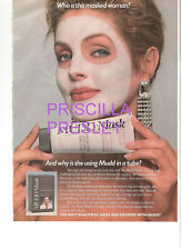 PRISCILLA PRESLEY ELVIS MUDD MASK MAKEUP FACE MAKEUP AD PRINT FROM MAGAZINE '87