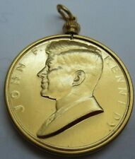 More details for john f kennedy inaugurated president january 20 1961 silver proof g/plated medal