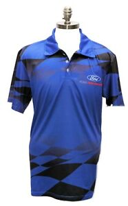 FORD PERFORMANCE  BLUE SUBLIMATED POLO SHIRT BY DAVID CAREY
