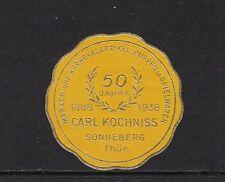 401887/ Siegelmarke - 50 Jahre Spielwaren - Carl Kochniss - Sonneberg - **