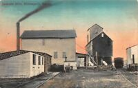 Hand Colored Postcard Jackman Mills in Minneapolis, Kansas~119425