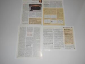 Audio Research CD2 CD Audiophile Player Review, 4 Pages, 1998, Full Test, Specs