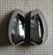 FIAT 500 C Convertable 08+ & GRANDE PUNTO 2008-16 L&R CHROME DOOR MIRROR COVERS