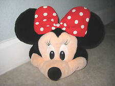 MINNIE MOUSE Disney DisneyLand Resorts Youth Stuffed Costume Ears Hat Cap USED