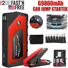 69800mAh 12V Car Jump Starter Portable USB Power Bank Battery Booster Box Clamp