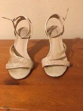 Debut Bridal Heeled Shoes Size 4 - White / Ivory