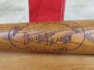"Vintage 1930s W.Bingham Co.Wood Double Header Baseball Bat 34"" Antique Cleveland"