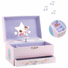 Djeco Spieldose Ballerina Musikspieldose Spieluhr Musikdose Schmuckdose Rosa e9