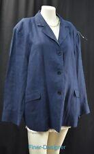 Talbots Irish Linen boyfriend blazer suit JACKET light coat Blue Woman 22W VTG