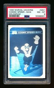 1990 MARVEL UNIVERSE #MH1 COSMIC SPIDER MAN HOLOGRAM SP PSA 8 NM-MT!