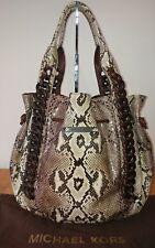 MICHAEL KORS Brown Python ID Chain Hobo Handbag $2595
