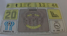 Ticket for collectors World Cup 1978 Tunisia - West Germany in Cordoba RARE