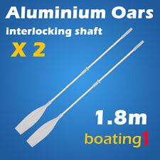 2 Piece Premium 1.8m White Aluminium Oars (Two piece interlocking shaft)