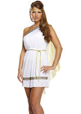 Womens Roman Greek Goddess Fancy Dress Costume Outfit Adult Toga Ancient Woman