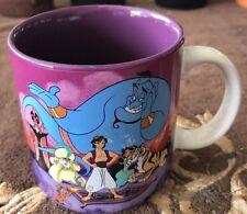 Vintage 1992 Disney Retired Aladdin Jasmine Genie Jafar Rajah Iago Coffee Mug
