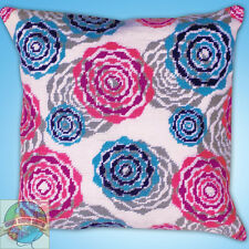 Needlepoint Kit ~ Design Works Bright Floral Multicolor Picture / Pillow #DW2561