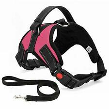 No Pull Dog Harness, Breathable Adjustable Comfort, Free Lead Included,