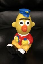 Vintage Muppets Inc Ernie With Pilot Hat, Ticket, And Punch.