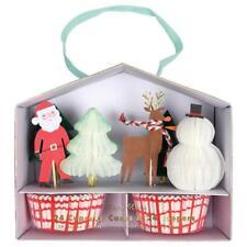 NEW Meri Meri Santa & Reindeer Christmas Cupcake Decorating Kit