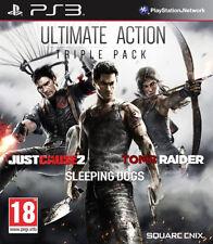 Ultimate AZIONE TRIPLO PACK-giusta causa 2/TOMB RAIDER/Sleeping Dogs ~ PS3
