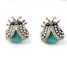 Hot Charm Betsey Johnson Fashion personality pearl ladybug insect lady earrings