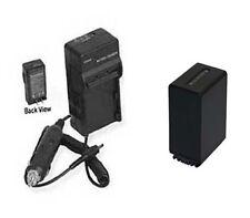 Battery + Charger for Sony HDRXR160E HDRPJ50V HDRPJ50VE NEX-VG10 NEXVG10E