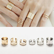 3x Charming 3Pcs/Set Fashion Top Of Finger Adjustable Open Ring Jewelry Gift FO
