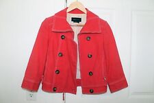 BCBG Max Azria Pea Coat / Jacket - Red - Double Breasted - Size XS
