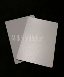 1 to 10 Poker Size Cut Cards - White 100% Plastic