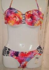 Womens Swimsuit RAISINS 2 PIECE BIKINI PINK * PADDED Cocoa Beach SZ M cruise NWT