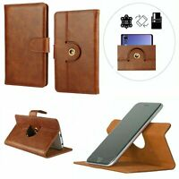 360 ° Rotate Premium Leather Mobile Phone Wallet Case For Sony Xperia L3 - L
