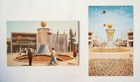 Disneyland Postcards, Tomorrowland's Clock of the World - #D-104 & P12297 - 1955