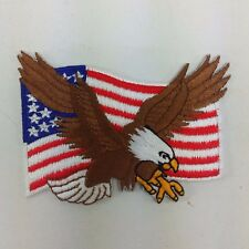 NEW IRON PATCH USA AMERICAN EAGLE FLAG SEW ON MILITARY EMBROIDERED APPLIQUE DIY