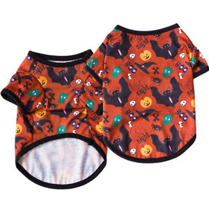 Halloween Party Pet Clothes T-shirt Small Dog Cat Puppy Vest Top Costume Apparel