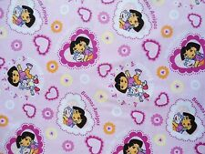 "Dora Fabric 1 Yard  36"" x 44""   Dora and Boots  Best Friends  Buenos Amigos"