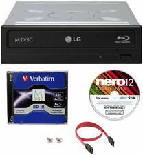 LG 16X Blu-ray Burner+FREE 3pk MDisc BD+Nero Software+Cable DVD Internal Drive