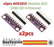 2pcs I2C ADS1015 12 Bit ADC 4 channel Module Gain Amplifier 2.0V to 5.5V