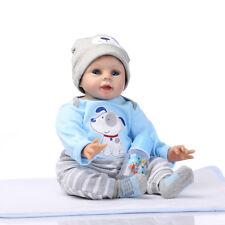 "22"" Handmade Silicone Vinyl Reborn Dolls Lifelike Newborn Boy Doll  Xmas Gift"