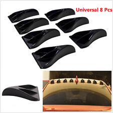 8 Pcs Car Ten Black ABS Vortex Generator Shark Fin Spoiler Wing Roof Trunk