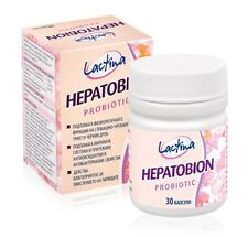 Probiotic Hepatobion 30caps. with Natural Leaf of Bulgarian Rose Damascene