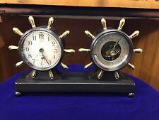 """New listing 1947 Chelsea """"Fulton� Desk Clock & Barometer Set"""