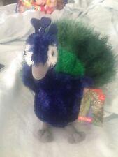 NWT Douglas Perry Peacock Plush - GORGEOUS!