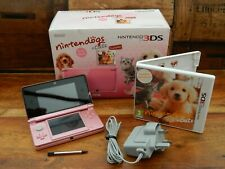 Nintendo 3DS Coral Pink Fully Boxed Console Inc Nintendogs + Cats