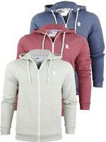 Mens D-Code 'Edward' Marl Hoodie/ Hooded Sweater Jumper