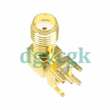 10pcs connector Sma female jack right angle solder Pcb mount F
