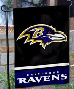 Baltimore Ravens GardenYard Banner Flag 12 x 18 Window Outdoor 2 Sided New